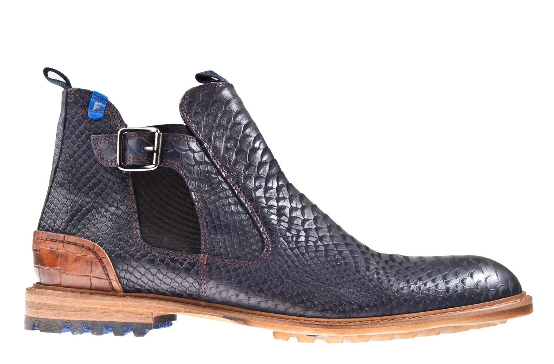 Floris Van Bommel 20003 05 H Blauw Snake Chelsea Boot