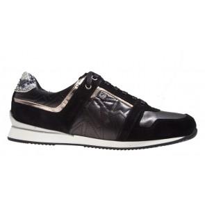 Floris van Bommel 85047/00 zwart combi sneaker