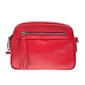 Chantal 1993 rood leren tas met voorvak