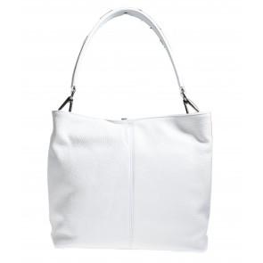 Leren tas wit met 3 vakken