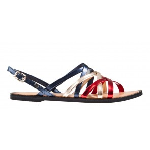 Tommy Hilfiger Metallic Strappy Flat
