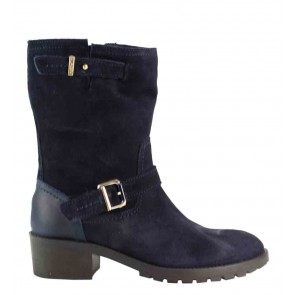 Tommy Hilfiger Whitney 4 B blauw suède kuitlaars