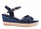Tommy Hilfiger Gradient Mid Wedge Sandal blauw sandaal