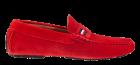 Tommy Hilfiger iconic rwb suède rood mocassin