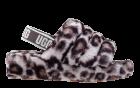 Ugg Fluff Yeah panter grijs pantoffel