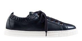 AGL D936001 blauw soft leer sneaker