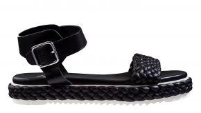 AGL D642040 zwartleer sandaal.