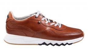 Floris van Bommel 16397/02G1/2 cognac kalfsleer sneaker.