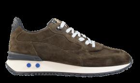 Floris van Bommel 16484/04 G1/2 Green suède sneaker