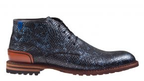 Floris van Bommel 20102/12 H Blue print metallic veterboot.