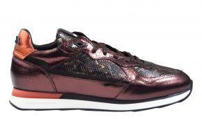 Floris van Bommel 85312/04 bruin craquelé sneaker.