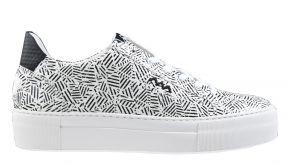 Floris van Bommel 85333/01 zwart/wit print sneaker