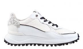 Floris van Bommel 85343/03 White Print sneaker
