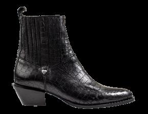 Floris van Bommel 85699/00 black croco Chelsea boot