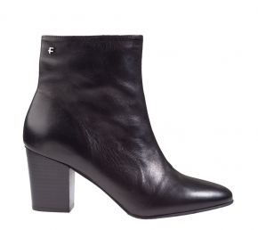 Floris van Bommel 85727/00 Black calf enkellaars.