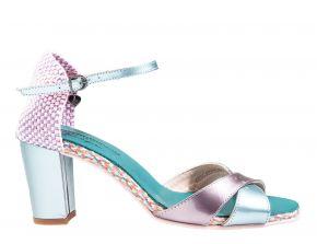 Floris van Bommel 85995/00 Light Blu Patent sandaal