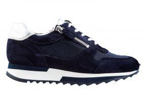 Hassia 1-30-1813 K blauw suède sneaker