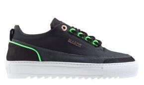 Mason Garments Firenze 14B Reflective Black/Asfalto/Fluo Green sneaker