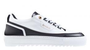Mason Garments Firenze 8C Firenze Leather/Reflective White/Black/Rainbow sneaker.