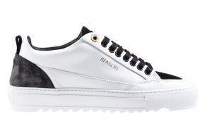 Mason Garments Tia 23B Leather/Suede/Reflective White/Black sneaker