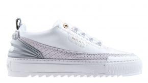 Mason Garments Firenze 11B Mesh/Leather White/ Grey sneaker