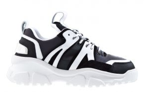 Mason Garments Genova 3 8F Leather/Reflective White/Black/Rainbow sneaker