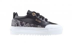 Mason Garments Torino 9E Leather/Snake Black/Grey sneaker.