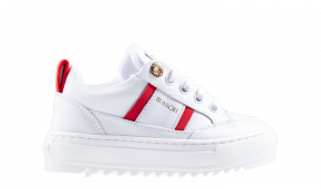 Mason Garments Kids Tia 17B wit rood sneaker