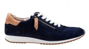 Paul Green 4979-108 blauw suède sneaker.