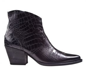 Paul Green 9666-037 croco zwart enkellaars