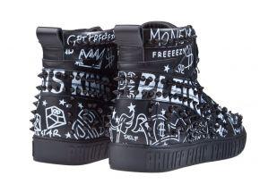 Philipp Plein MSC2608 zwart Hi-Top Graffiti sneaker