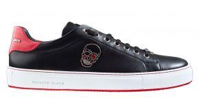 Philipp Plein MSC2816 zwart rood Lo-Top sneaker