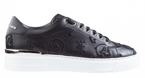 Philipp Plein MSC 3148 zwart Lo-Top Sneakers Embroidered Monogram
