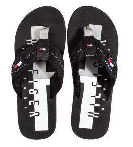 Tommy Hilfiger badge beach sandal zwart slipper