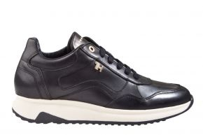 Tommy Hilfiger elevated leather runner zwart sneaker