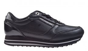 Tommy Hilfiger Glitter mix runner zwart sneaker