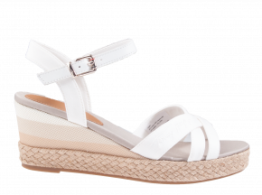 Tommy Hilfiger Gradient Mid Wedge Sandal wit sandaal