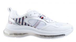 Tommy Hilfiger Monogram Air Runner Mix wit sneaker