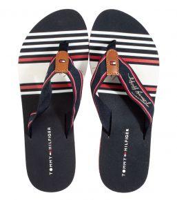 Tommy Hilfiger Signature Beach Sandal blauw slipper