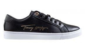 Tommy Hilfiger Signature Capsule zwart veterschoen