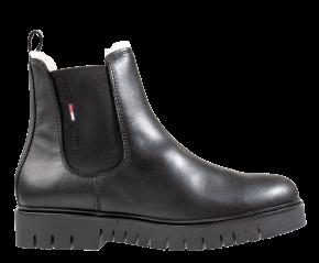 Tommy Hilfiger Warmlined Chelsea Boot zwart chelsealaars