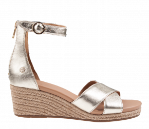 UGG Eugenia Gold Metallic sandaal