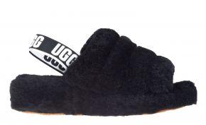 UGG Fluff Yeah Slide zwart pantoffel.