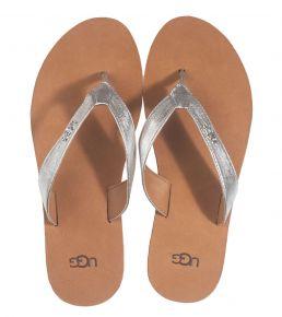 UGG Tawney Logo zilver slipper