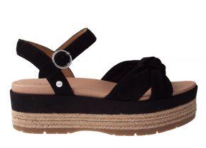 UGG Trisha zwart suède sandaal
