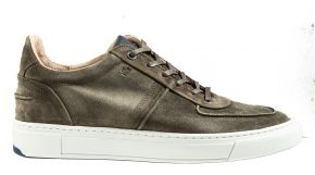 Van Bommel 16422/04G1/2Green suèdeSneaker.